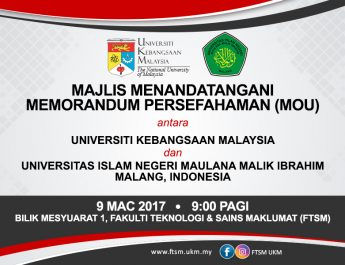 MoU State Islamic University of Maulana Malik Ibrahim and The National University of Malaysia